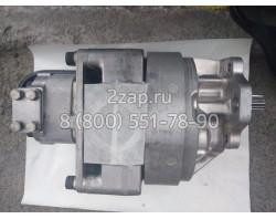 705-52-40130 Гидронасос шестеренный двухсекционный (Pump Ass'y) Komatsu