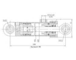 Гидроцилиндр ЦГ-80.56x900.11 ЭО-2626, ЭО-2621В-3, ТО-49