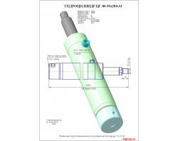 Гидроцилиндр изменения угла резания цг-80.50х280.33