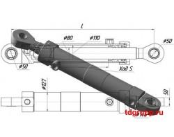 Гидроцилиндр стрелы ГЦ-110.56х1120 ЭО-2621, ЭО-2626.