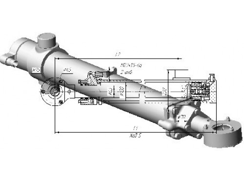 Подъем отвала ГЦ-100х63х1000.31 автогрейдера ДЗ-98 ЧСДМ